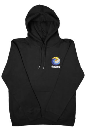 flowne basic hoodie black