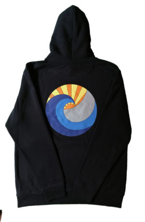 flowne backlogo hoodie black